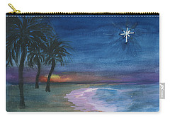 Carry-all Pouch featuring the painting Tropical Christmas by Donna Walsh