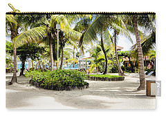 Tropical Courtyard Carry-all Pouch by Lawrence Burry