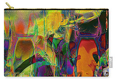 Carry-all Pouch featuring the digital art Tropical Delight by Kiki Art