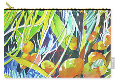 Tropical Design 1 Carry-all Pouch by Rae Andrews