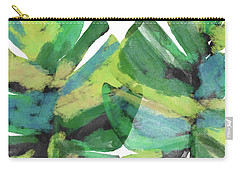 Carry-all Pouch featuring the mixed media Tropical Dreams 1- Art By Linda Woods by Linda Woods
