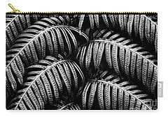 Tropical Fern Black White Carry-all Pouch