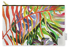 Tropical Fernery 2 Carry-all Pouch by Rae Andrews