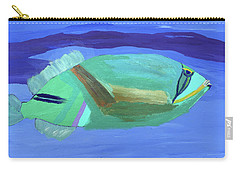 Carry-all Pouch featuring the painting Tropical Fish by Karen Nicholson