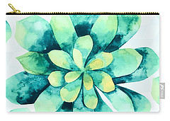 Tropical Flower  Carry-all Pouch by Mark Ashkenazi