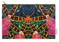 Carry-all Pouch featuring the painting Tropical Flowers by Debbie Chamberlin