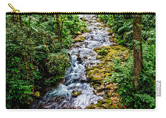 Carry-all Pouch featuring the photograph Tropical Forest Stream by Christopher Holmes