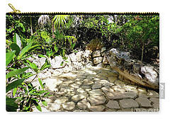 Carry-all Pouch featuring the photograph Tropical Hiding Spot by Francesca Mackenney
