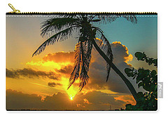 Tropical Lagoon Sunrise Carry-all Pouch