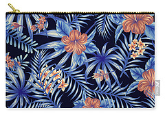 Tropical Leaf Pattern 4 Carry-all Pouch