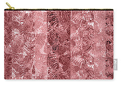 Tropical Leaf Stripes Dusty Cedar Carry-all Pouch