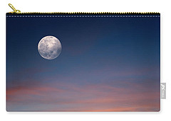 Carry-all Pouch featuring the photograph Tropical Moon by Laura Fasulo