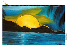 Tropical Moonshine Carry-all Pouch by Jenny Lee
