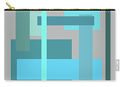 Tropical Oceans Square Abstract Carry-all Pouch