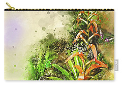 Tropical Orange Carry-all Pouch by Deborah Nakano