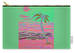 Hot Pink Coconut Palm Carry-all Pouch