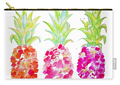 Tropical Pink And Gold Carry-all Pouch