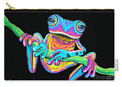 Tropical Rainbow Frog On A Vine Carry-all Pouch