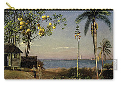 Tropical Scene Carry-all Pouch by Albert Bierstadt