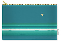 Carry-all Pouch featuring the digital art Tropical Seas by Val Arie