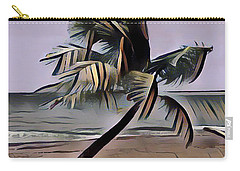 Carry-all Pouch featuring the digital art Tropical Seascape Digital Art A7717  by Mas Art Studio