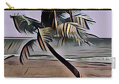 Carry-all Pouch featuring the digital art Tropical Seascape Digital Art A7717l by Mas Art Studio