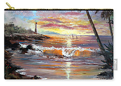 Carry-all Pouch featuring the painting Tropical Sunset by Lee Piper