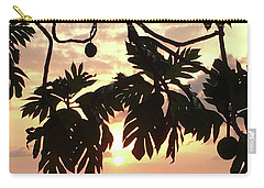 Carry-all Pouch featuring the photograph Tropical Sunset Silhouette by Karen Nicholson