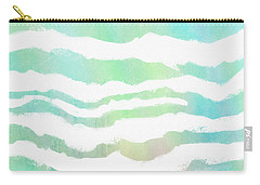 Carry-all Pouch featuring the painting Tropical Waves  by Ann Powell