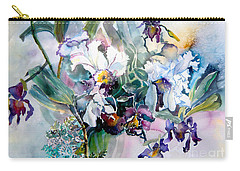 Tropical White Orchids Carry-all Pouch