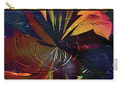 Carry-all Pouch featuring the digital art Tropicale by Paula Ayers