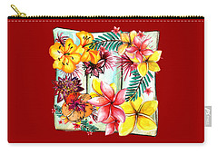 Carry-all Pouch featuring the photograph Tropicana By Kaye Menner by Kaye Menner