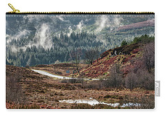 Carry-all Pouch featuring the photograph Trossachs National Park In Scotland by Jeremy Lavender Photography