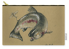 Trout Eating Carry-all Pouch