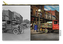 Carry-all Pouch featuring the photograph Truck - Home Dressed Poultry 1926 - Side By Side by Mike Savad