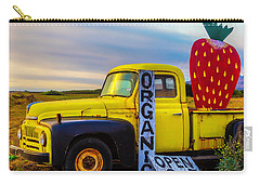 Truck With Strawberry Sign Carry-all Pouch by Garry Gay