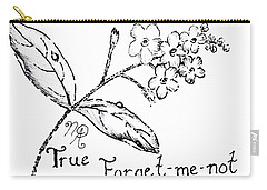 True Forget-me-not Carry-all Pouch