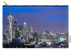 Carry-all Pouch featuring the photograph True To The Blue In Seattle by Ken Stanback