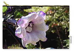 Carry-all Pouch featuring the photograph Trumpet Flower by Melissa Messick