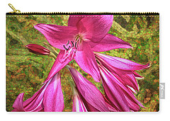 Trumpet Flowers Carry-all Pouch by Lewis Mann