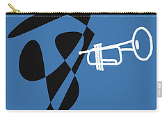 Trumpet In Blue Carry-all Pouch by David Bridburg