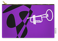 Trumpet In Purple Carry-all Pouch by David Bridburg