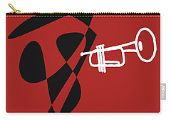 Trumpet In Orange Red Carry-all Pouch by David Bridburg