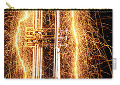 Trumpet Outlined With Sparks Carry-all Pouch