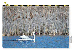 Carry-all Pouch featuring the photograph Trumpeter Swan 0967 by Michael Peychich
