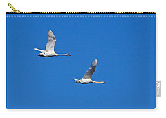 Carry-all Pouch featuring the photograph Trumpeter Swan 1727 by Michael Peychich