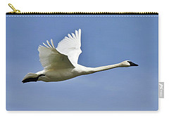 Trumpeter Swan In Flight Carry-all Pouch