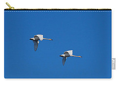 Carry-all Pouch featuring the photograph Trumpeter Swans 1725 by Michael Peychich