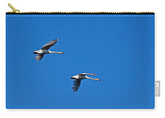 Carry-all Pouch featuring the photograph Trumpeter Swans 1726 by Michael Peychich