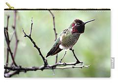 Trumpeting Hummingbird Carry-all Pouch